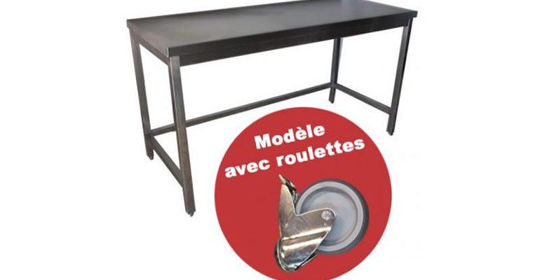 La table en inox pour une cuisine chic et propre
